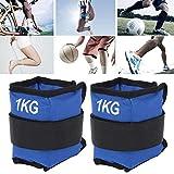 Nannday 【𝐑𝐞𝐠𝐚𝐥𝐨 𝐝𝐞 𝐍𝐚𝒗𝐢𝐝𝐚𝐝】 Pesas de Tobillo, 1 kg de Bolsas de Arena, 11.8x4.7in Azul para Hombres, Mujeres, entusiastas del Fitness, Entrenamiento Muscular(1KG)