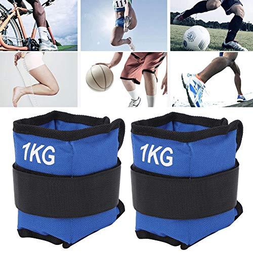 Pesas de Tobillo, 1 kg de Bolsas de Arena, 11.8x4.7in Azul para Hombres, Mujeres, entusiastas del Fitness, Entrenamiento Muscular(1KG)