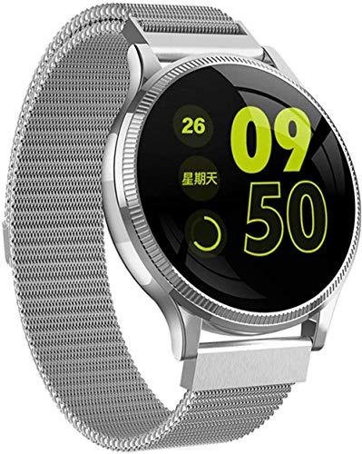 ZHENAO Smart Watch, Pantalla de 1.22 Pulgadas, Rastreador de Fitness Pretómetro Deportivo Pulsera Mensaje Push Smart Reminder, Ip67 a Prueba de Agua 150Mah-Gold Exclusivo/Plata