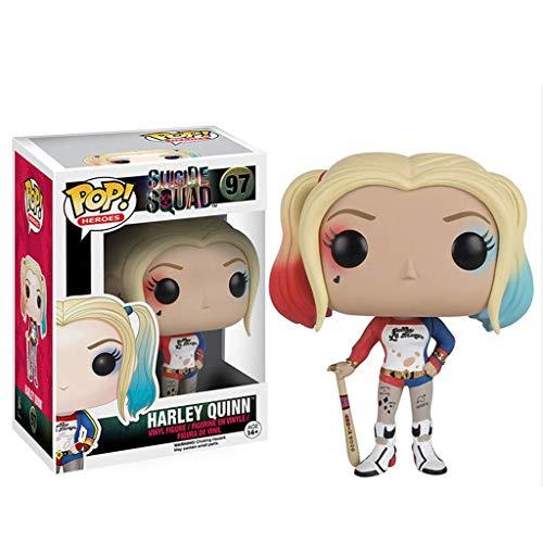 LQZYTY Pelotón del Suicidio-Harley Quinn Pop Figura Forma pelotón del Suicidio Juguete for coleccionistas 10CM