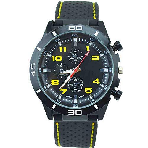 DECTN Reloj de Pulsera Nuevo Reloj de Silicona para Hombre con Estilo Estudiante Cool Sports Racer Watch