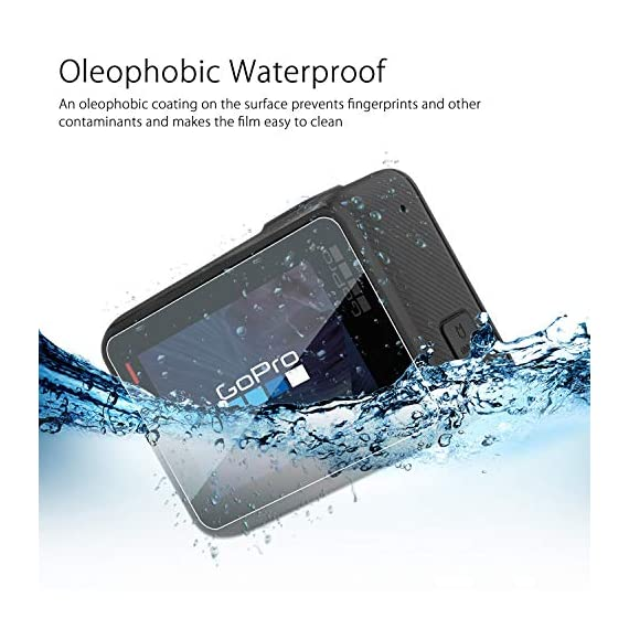 [6 pcs] fitstill screen protector for gopro hero 8 black, ultra clear tempered glass screen protector + tempered glass… 3 【life-time warranty】 life-time warranty from fitstill and 90 days money back guarantee 【secifically design】 compatible with gopro hero8 black action camera only. 【high-transparency】it provides you high-definition clear viewing. Hydrophobic oleophobic screen coating protects your camera screen against sweat and oil residue from fingerprints and keeps high-sensitivity touch response.