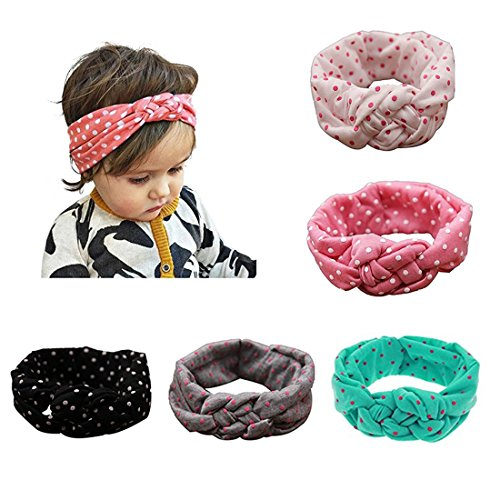 My Little Baby Baby Girl Newest Turban Headband Head Wrap Knotted Hair Band 5 pcs