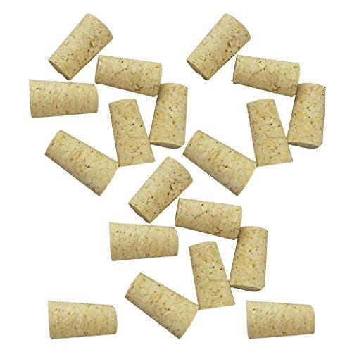 Blesiya Corchos cónicos (para botellas de vino estándar o botellas de cerveza), paquete de 20 unidades
