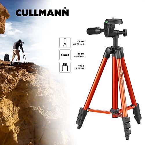 Cullmann 52140 ALPHA 3000 kleine Einsteiger Stativ mit 3-Wege-Kopf orange