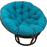 YB&GQ Papasan Chair Cushion with Ties,Outdoor Egg Seat Cushions,Waterproof Cover Sink Into Our Thick Comfortable Papasan,Chair Not Included Peacock Blue 130x130x15cm(51.2x51.2x5.9inch)