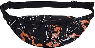 Kwok Fashion Unisex Decorative Pattern Waist Bag Gym Fitness Bag Chest Package Crossbody Bag Messenger Bag Shoulder Bag Wallet Mobile Phone Bag Leisure Bag