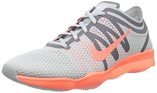 Nike Damen WMNS Air Zoom Fit 2 Fitnessschuhe, Silberfarben (Pr Pltnm/Brght MNG-cl Gry-Whit), 39 EU