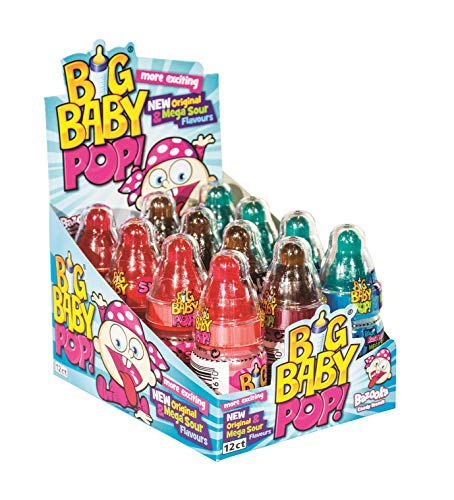 Topps Boîte Présentoir De 12 Big Baby Pop Mega Sour 384 G
