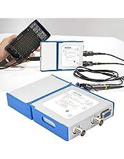 Regalo De Abril Osciloscopio virtual portátil, OSCA02 100M 35MHz 2 canales USB Osciloscopio virtual Herramienta de medición