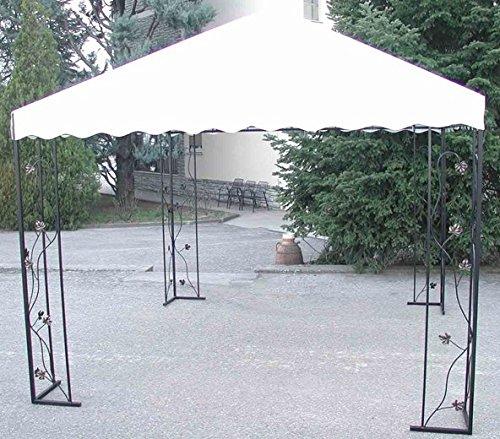 CRUCCOLINI Línea Jardín 'Baco Cenador de hierro forjado 3 x 3 m