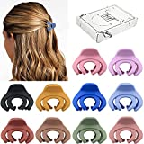 Small Hair Clips for Women Girls Kids, Tiny Hair Claw Clips for Thin/Medium Thick Hair, 1.5 Inch Mini Hair Jaw Clips Matte Octopus Clip Nonslip Spider Clip with Gift Box (Pack of 10 Colors)