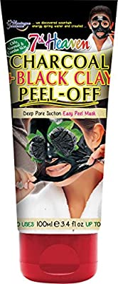 7th Heaven Charcoal and Black Clay Peel Off Mask 100ml Tube with Witch Hazel for Ultra Clean and Smooth Skin, Suitable for Oily, Normal and Combo Skin Types from Montagne Jeunesse