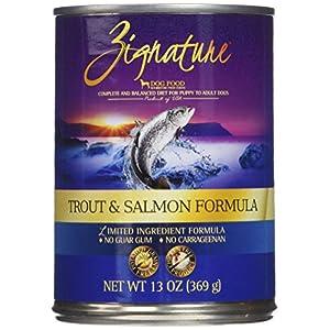 Zignature Trout & Salmon Formula Grain-Free Wet Dog Food 13oz, case of 12