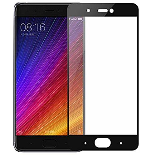 Funnytech Cristal Templado para Xiaomi Mi5S Plus Negro [Cubre el Borde Biselado] l Protector de Pantalla, Calidad HD, Alta Resistencia a Golpes 9H - Sin Burbujas