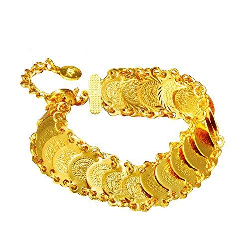 CLEARNICE Moneda Joyería Oro Moneda Pulsera Pulseras para Las Mujeres Islam Musulmán...