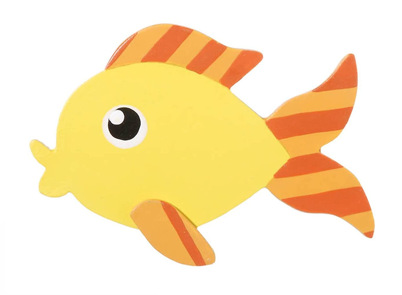 Darice 9189-67 Painted Friendly Fish Shape Cutout