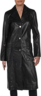 Juicy Couture Women's Genuine Leather Long Leather Coat
