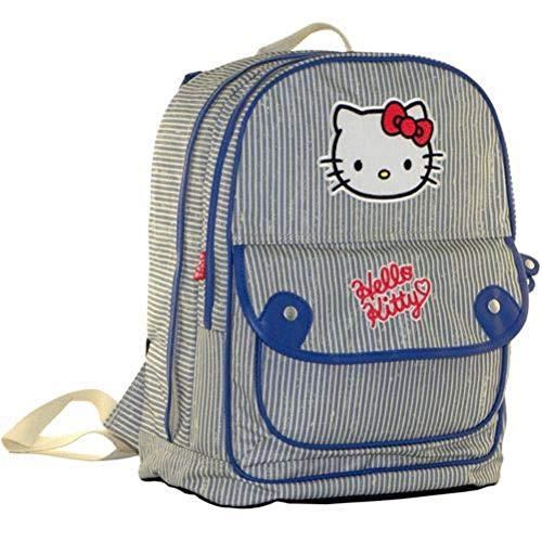 Grand sac à dos Hello Kitty Teenager bleu