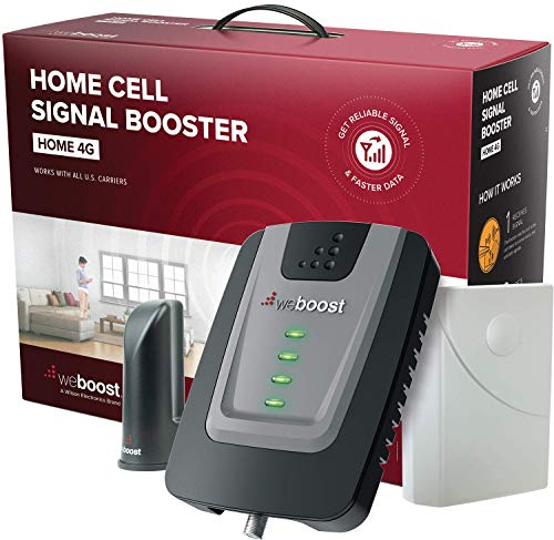 weBoost Home 4G (470101) Indoor Cell Phone Signal Booster for Home and Office - Verizon, AT&T, T-Mobile, Sprint - Supports 1,500 Square Foot Area