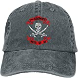Men's&Womens Classic Goonies Never Say Die Adjustable Denim Baseball Caps Unisex,Deep Heather,One...
