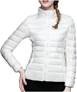 Howely Womens Casual Winter Slim Stand Collar Warm Down Puffer Jacket