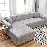 Fundas elásticas para sofá para Sala de Estar, Funda geométrica para sofá, Funda para sofá, Esquina para Mascotas, en Forma de L, Chaise Longue, Funda para sofá A9, 1 Plaza