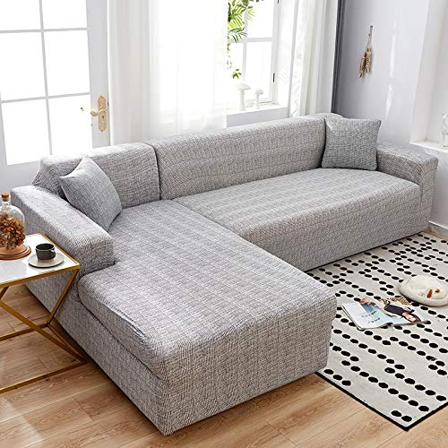 ASCV Elastische Sofabezüge für Wohnzimmer Geometrische Sofabezug Couchbezüge Haustiere Ecke L-förmige Chaiselongue Sofabezug A9 1-Sitzer