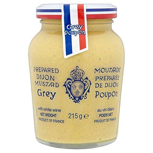Grau Poupon Dijon-Senf (215g) - Packung mit 6