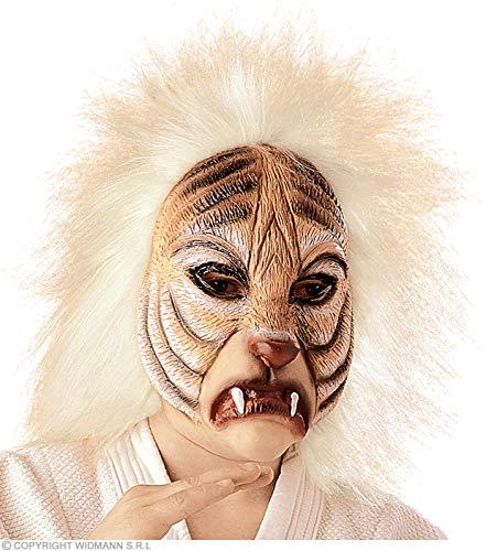Widmann Tigermaske mit Plüschhaar Tigermasken Augenmasken & Verkleidungen für Maskenade Kostümzubehör