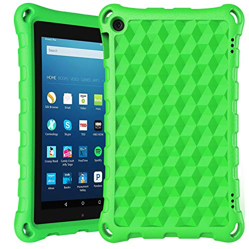 7 inch Tablet Case 2019-DiHines Kids-Proof Protective Case Cover for 7 inch Tablet (Compatible with 2019&2017&2015 Release) (Green)
