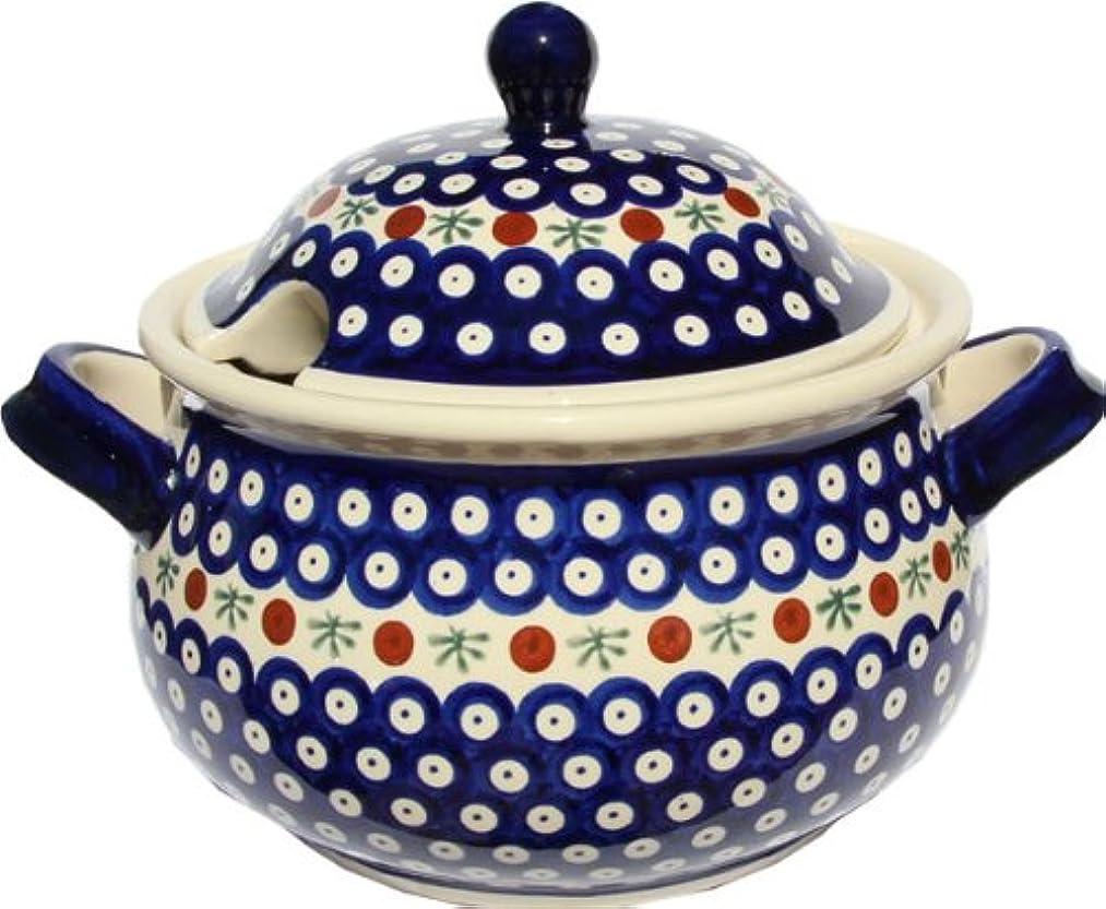 Polish Pottery Soup Tureen From Zaklady Ceramiczne Boleslawiec 1004-41 Nature Pattern, 13.4 Cups