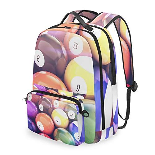 MONTOJ Billard Pool Bälle Reisetasche mit Crossbag Campus Rucksack