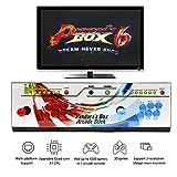 WISAMIC Real Pandoras Box 6 Arcade Consola de Juegos - Soporta juegos 3D con Full HD, Clasificación de Juegos, CPU Mejorada, Apoyo PS3 PC TV 2 Player, No incluye Juegos (6 Botones)