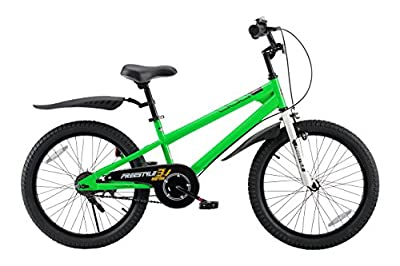 RoyalBaby Kids Bike Boys Girls Freestyle BMX Bicycle With Kickstand Gifts for Children Bikes 20 Inch Green