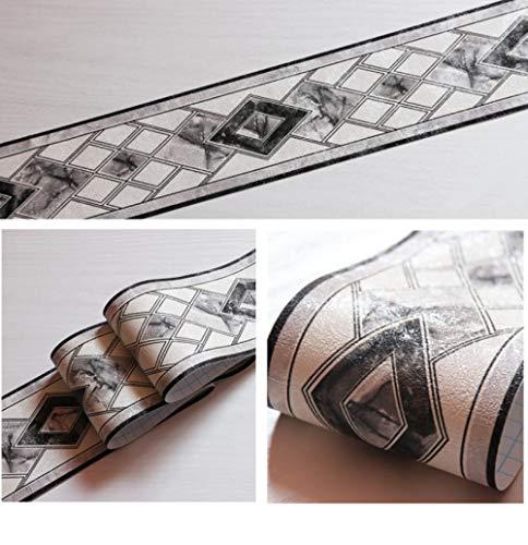 Tapete bordüre Graue Rebe Entfernbare selbstklebende wasserdichte für Wohnzimmer Badezimmer Schlafzimmer Küche Aufkleber Wanddeko