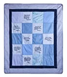 Stuff4Tots Baby Blanket - Baptism Gift - Soft, Cotton Baby Crib Blanket Embroidered with Scriptures...