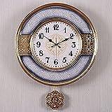 DSJGVN Reloj de Pared Creativo de Lujo Ligero, Relojes de Exterior para Patio a Prueba de Agua, Reloj de Arte silencioso para jardín, hogar, Interior, Exterior, Patio, Pared, decoración del hogar