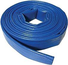 Suinga - Platte slang, 25 mm, 100 m, voor waterafvoer, polyester, PVC, blauw, rubber, laagvlak voor ontstekingen en zwemba...