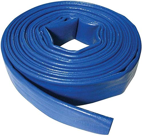 Suinga - MANGUERA PLANA 50MM 100 METROS para descarga de agua, Poliester PVC Azul Goma Layflat de Incendios y Piscinas (50mm 100 metros)
