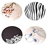 Serenable 4PCS Chairs Cover Stool Covers Round, Super Breathable Round Bar Stool Cover Seat Cushion fits for 11-14 inch Round Lift Chair Stool