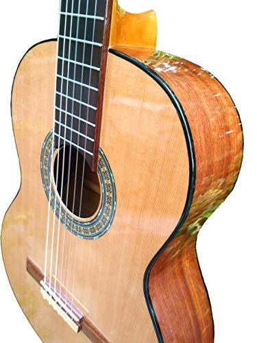 MARCE ANA - Guitarra Clasica española de estudio (caja armónica de madera de Etimoe, dos perfiles en negro, diapasón de cedro natural. Tamaño adulto)