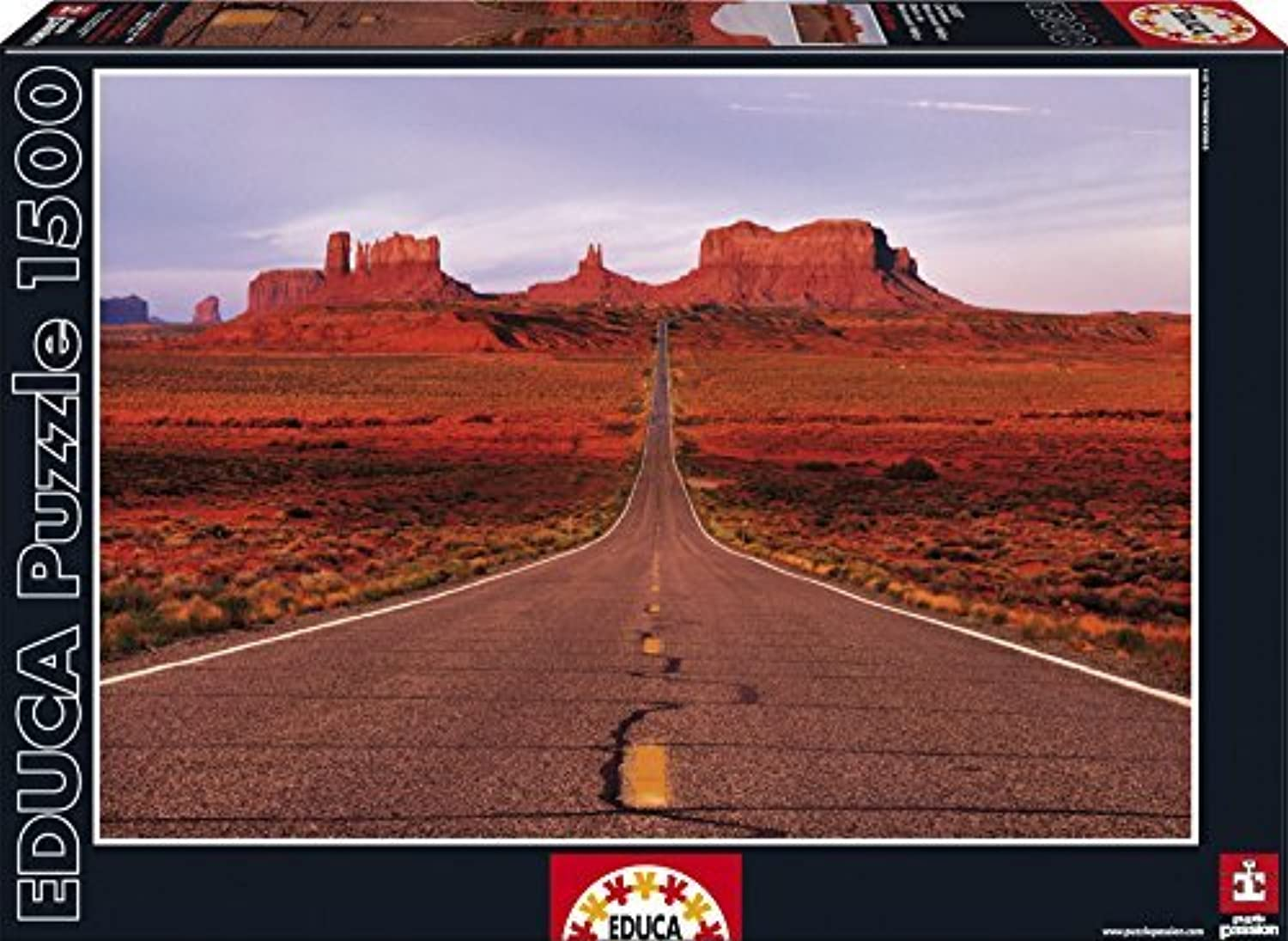 Educa Monument Valley Road Puzzle (1500 Piece), One Farbe by Educa