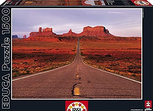 Educa MonuHommest Valley Road Puzzle (1500 Piece), One Couleur by Educa