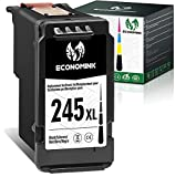 Economink Remanufactured 245XL Black Ink Cartridge Replacement for Canon PG-245 XL 245 XL PG-243 243 for Pixma MX492 MX490 TR4522 MG2420 TS3122 MG2922 MG2520 MG2500 TS3100 MG2522 MG2920 MG3022 MG3029