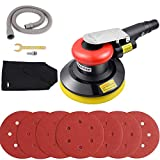 "5"" Air Random Orbital Sander,Dual Action Professional Pneumatic Sander with Speed Regulation,Dust Suction"
