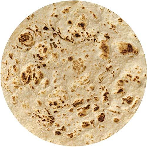 Manta De Sofá Blanket Mantas De Burrito De Franela Cálidas Súper Suaves Manta De Toalla Redonda Multifunción Diámetro80Cm Azul