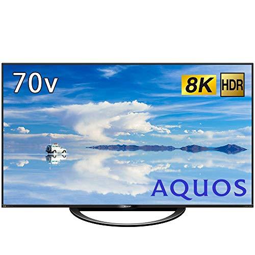 シャープ 70V型 液晶 テレビ AQUOS 8T-C70AX1 8K チューナー内蔵 N-Blackパネル 8K倍速液晶 2018年モデル