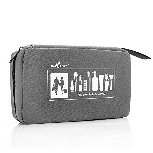Trousses de Toilette Trousse de Toilette de Voyage de Sac de Lavage - Sac portatif imperméable de Stockage de Sports de Plein air - Tissu d'Oxford Masculin et féminin de Grande capacité (LxH) 22x13cm
