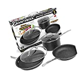 Nonstick 5 Piece Kitchen Cookware Set- As Seen on TV! Granite Rock Ultimate Neew